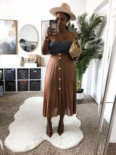 Fall Outfits, Fashion Outfits, Casual Attire, Get The Look, Natural Hair Styles, High Waisted Skirt, Autumn Fashion, Fall Winter, Zara