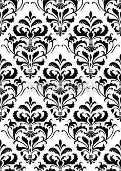 Black Pattern on white background with big contrast.