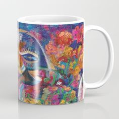 Flower Fairy Coffee Mug by crismanart Coffee Mugs, Fairy, Tableware, Flowers, Christmas, Gifts, Xmas, Dinnerware, Presents