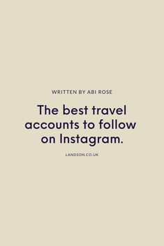 Here are a few of our favourite Instagram travel accounts to help while away the hours until vacation time…