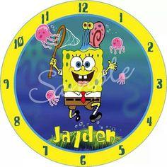 Sponge Bob Personalized Clock