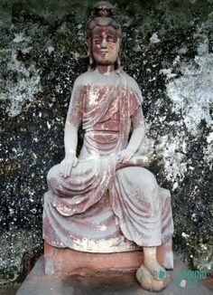 Statue am Leshan Giant Buddha, China