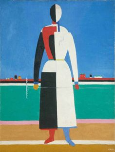 Kazimir Malevich, Woman with Rake , 1930–32. The realism of this work demonstrates how Malevich's art was subjugated to the demands of the Bolsheviks' state. State Tretyakov Gallery/Photo © State Tretyakov Gallery.