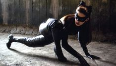 """Actress Anne Hathaway as Catwoman/Selina Kyle in """"Batman: the Dark Knight Raise"""" movie."""