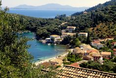This is Kalami Beach in Corfu