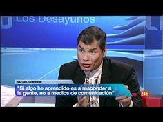 Rafael Correa en Los Desayunos de TVE.
