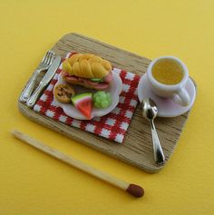 fimo pastry and coffee