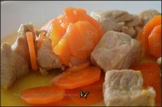 Mijoté de porc aux carottes Cooking Chef Gourmet, Kenwood Cooking, Sauce, Thai Red Curry, Grains, Lol, Chicken, Ethnic Recipes, Meat