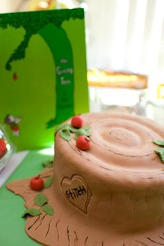 The Giving Tree stump. Baby shower cake. I can't describe my love for this!