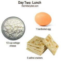 Day 2: Lunch, Military Diet Plan