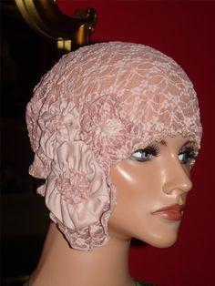 Summer Daytime 1920s Hat Flapper Cloche Hat Pink