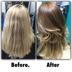 Balayage from all blonde