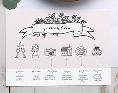 Printable Wedding Timeline Template, Wedding Itinerary timeline, Printable Wedding Timeline for Bridal Party, Weekend Itinerary, Editable