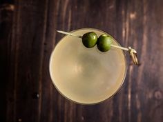 This drink, slightly adapted from Cala in San Francisco, is really a hybrid of a martini and a mezcal margarita, made savory, rich, and somewhat salty with the addition of Castelvetrano olive brine.