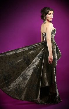 LUXURYday / šaty LUXURY samet Strapless Dress Formal, Formal Dresses, Luxury, Handmade, Fashion, Dresses For Formal, Moda, Hand Made, Formal Gowns
