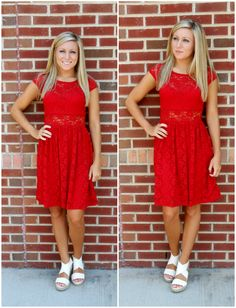 Red Lace Dress! $39