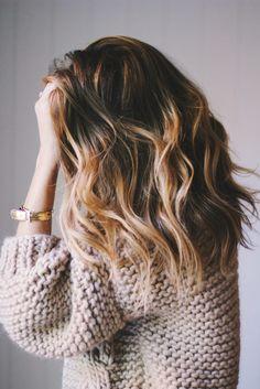 mid length beachy waves hair