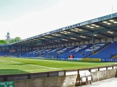 Bury's Gigg Lane - now listed after Forever Bury's successful application. Football Stadiums, Acv, Bury, Baseball Field, English, Sports, Image, Design, Football Soccer