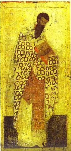 Theophanes the Greek ~ St. Basil the Great, Cathedral of the Annunciation (Blagoveschensky Sobor), Moscow, Russia, c.1405 (tempera)