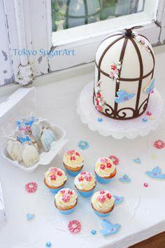 幸せの青い小鳥展終了しましたの画像:東京シュガーアート 頑張ってシュガーアートを広めてマス!