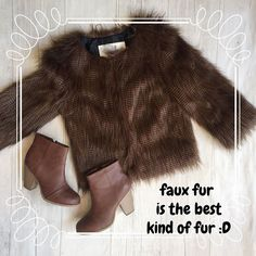 We here at Plato's Closet love our fashion and the earth and we agree fashion does not have to kill! Which is we are obsessed with our faux fur jackets!We have tons of them in all sorts of lengths colors an styles so come get yours and save an animal! #fauxfur#is#the#best#kind#of#fur#save#animals#platosclosetchitown#platosclosetlincolnpark#instadaily#instacool#instagood#platoscloset#instapic#go#green#earth#fashion#doesnt#have#to#kill#love#follow#likes#like#jacket