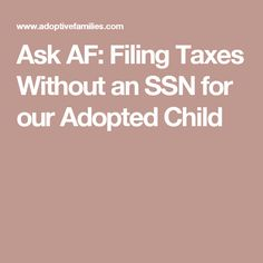 Books for preparation and support an adoption reading list ask af filing taxes without an ssn for our adopted child ccuart Images