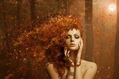 Autumn artistic wallpaper - Wonderful makeup and hair Artistic Wallpaper, Images Wallpaper, Fantasy Photography, Creative Photography, Glamour Photography, Fantasy Women, Fantasy Art, Illustrator, Digital Art Girl