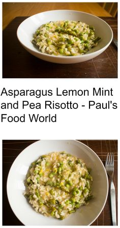Great Asparagus Lemon Mint and Pea Risotto perfect for National Asparagus Month #nationalasparagusmonth