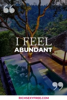 I feel abundant! Use this affirmation to build confidence, empower yourself, say yes to abundance, create wealth and achieve your big money goals easily. Prosperity Affirmations, Love Affirmations, Affirmation Quotes, Positive Thoughts, Law Of Attraction, Big Money, Abundance, Inspirational Quotes, Positivity