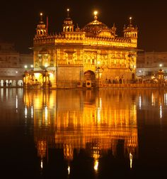 Golden Temple of Amritsar at night