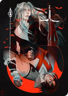 Trevor and Alucard Castlevania Dracula, Alucard Castlevania, Castlevania Netflix, Castlevania Lord Of Shadow, Anime Character Drawing, Game Character, Character Design, Dark Fantasy, Fantasy Art