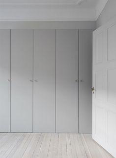 sleek gray closet doors #wardrobe – http://minimalism.co