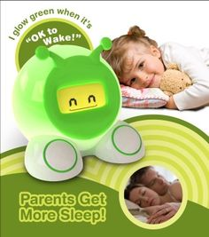 Sleep clock changes color when it is time for your kid to get up
