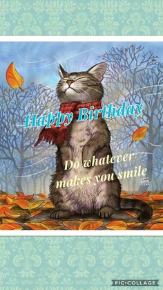 Do whatever makes you smile! Do whatever makes you smile! The post Happy Birthday! Do whatever makes you smile! appeared first on Gag Dad. Birthday Greetings For Facebook, Facebook Birthday, Happy Birthday Art, Birthday Cheers, Birthday Wishes Funny, Happy Birthday Images, Birthday Messages, Birthday Pictures, Birthday Quotes