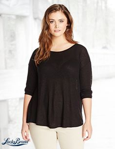 Lucky Brand Women's Plus-Size Slouchy Tee