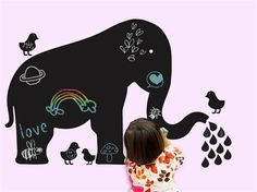 Chalkboard stickers. Want to try to do this concept with chalkboard paint.