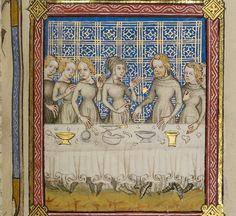 Bible Historiale Getty MS 1  v1; Francie 1360-1370; f. 217r Job