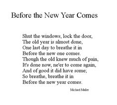 Before the New Year Comes