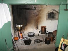 Walk-in Cooking Fireplace in Restored 1810 Farmhouse