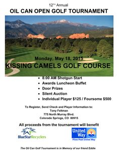 Join us May 18th for a fun day of golf on a beautiful course benefiting good causes!   To register, send check and player information to: Tony Feltman, 775 North Murray Blvd., Colorado Springs, CO 80915  https://www.facebook.com/events/387185288072980/
