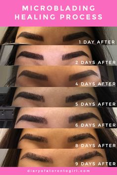 My microblading experience | eyebrow microblading healing process