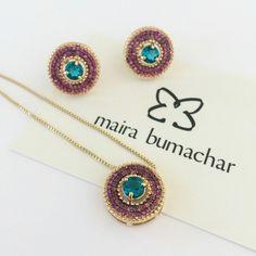 Para começar bem o dia.... nosso brinco e colar turmalina e pink! #mairabumachar  #disponiveisnosite  #disponivelnaslojas  www.mairabumachar.com.br #pedidosporwhatsapp (11)997440079