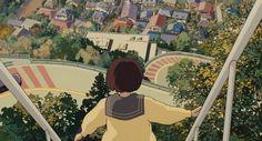 Twitter Japanese Wallpaper Iphone, Computer Wallpaper, Studio Ghibli Art, Studio Ghibli Movies, Japanese Animated Movies, Hayao Miyazaki, Anime Scenery, Aesthetic Anime, Whisper
