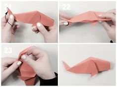 Easy Traditional Origami Fish Tutorial: Easy Traditional Origami Fish Tutorial - Final Step