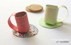 Manualidades para niños: Tacitas de café con cartón reciclado   Casualplay