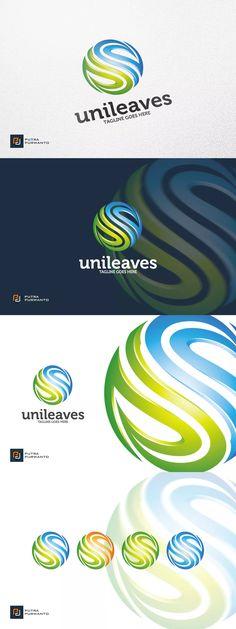Unileaves / Nature - Logo Template AI, EPS