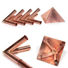 Copper Meditation Pyramid Connector Set - designed for Diameter metric copper poles
