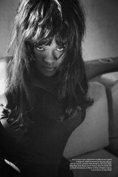 Rihanna photographed by Inez Van Lamsweerde & Vinoodh Matadin for Vogue Paris December 2017 / January 2018  Stylist: Mel Ottenberg  Hair: Yusef Williams  Makeup: Stéphane Marais