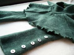 Cutest upcycled wool skirtie ever!