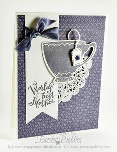A Nice Cuppa stamp set and Cups & Kettle Framelits 2016 Occasions Catalog #stampinup www.stampstodiefor.com wisteria wonder 2
